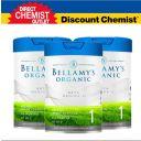 三罐装包邮包税  Bellamy's 贝拉米白金版有机A2婴儿配方奶粉1段  800g/罐