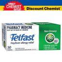 Telfast 退烧药 退过敏药 180mg 50粒 (限购1盒)