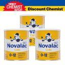 【三罐装包邮】Novalac拜耳宝怡乐 防肠绞痛婴儿奶粉(0-12个月)800g
