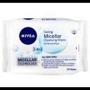Nivea 妮维雅 敏感肌可用 3合1Micellar 卸妆洁面湿巾 25抽