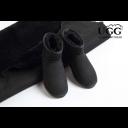 OZLANA UGG 防水羊皮毛一体加绒保暖低筒经典雪地靴(OZ0001WR黑色)
